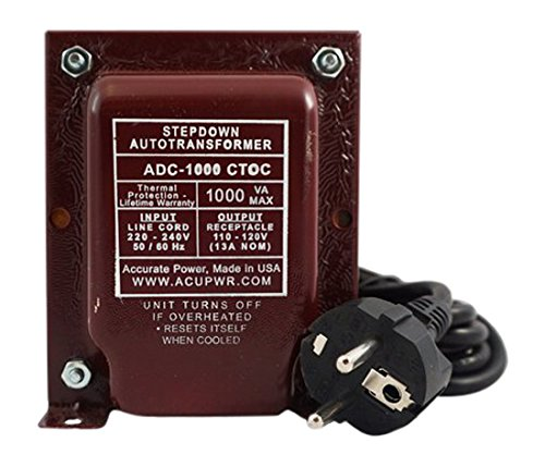ACUPWR ADC-1000 Step Down Voltage Transformer/Converter for Refrigeration/Wine Coolers/Freezers Ideal for Models, 25 cu ft, 1000 W, 220-240 V to 110-120 V (Subzero Refrigerator Handles compare prices)