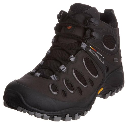 Merrell Men's Chameleon Evo Mid Gore-Tex Black/Charcoal Hiking Boot J584057 7 UK