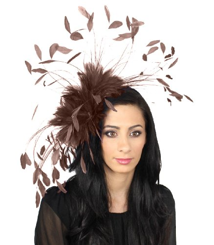 giant-eagle-owl-feather-fascinator-hat-for-ascot-kentucky-derby-weddings-chocolate