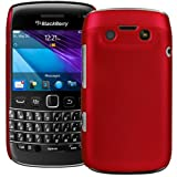 Red Hybrid Xylo-Armour Hard Back Cover / Skin / Case for the BlackBerry Bold 9790 Mobile Phone.