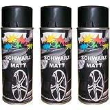 3 Lackspray Schwarz matt 400 ml je Spraydose