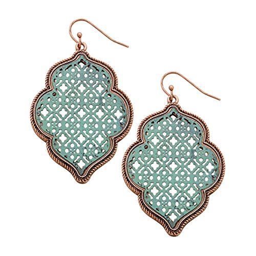 rosemarie-collections-womens-two-tone-metal-cutout-moroccan-dangle-earrings-copper-and-patina-verdig