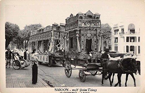 Saigon Vietnam Funeral Burial Scene Real Photo Antique Postcard J37130