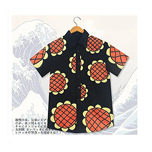 Mxnpolar One Piece Monkey D Luffy Cosplay New World Sunflowers T-shirt Costume L (Monkey D Luffy Shirt compare prices)