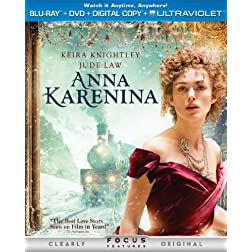 Anna Karenina (Two-Disc Combo Pack: Blu-ray + DVD + Digital Copy + UltraViolet)