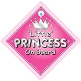 Little Princess On Board Sign Silver Text Princess On Board Princess Car Sign Baby on Board Sign Baby on Board Decal Bumper Sticker Baby Car Sign Car Sign