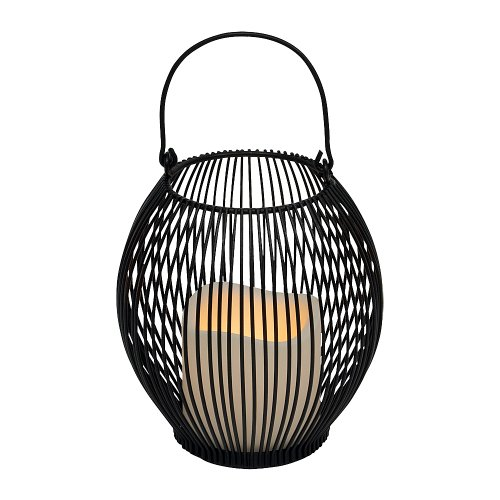 Everlasting Glow 5.75″ x 6″ Wire Open Work Lantern and LED Candle