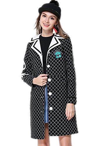 xyxy-moda-lattice-sottile-giacca-di-lana-femminile-black-xxxxxl