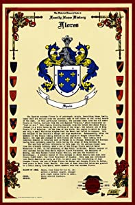 Amazon.com: Flores Coat of Arms/Crest and Family Name History, meaning