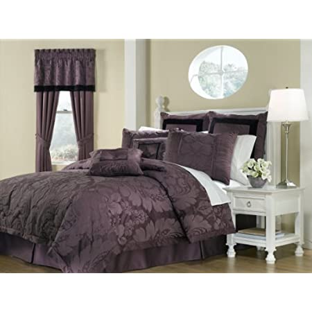 Royal Heritage Home Lorenzo Purple 8-Piece Queen Size Comforter Set: Home & Garden