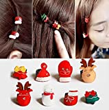 Blingys Merry Christmas Style Cute Hair Clips/Bobby Pins/Hairpins/Barrette(10 Piece Combo Set) The Best Christmas Gifts Packed With Blingys Bag