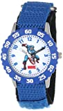 Marvel Comics Kids W000134 Captain America Stainless Steel Time Teacher Watch