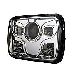 See 5*7 LED Hi/Low beam Headlight CREE LED driving light Chrome for Jeep,UTV,ATV,Ford for car accessories Details