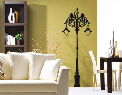 Best Quality Vinyl Wall Sticker Decals - Irish Gaslamp ( Size: 8in x 21in - Color: gold ) - No: 1610