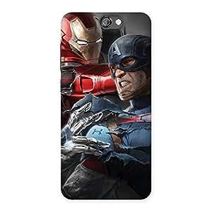 Impressive Genius vs Civil Punch Multicolor Back Case Cover for HTC One A9