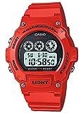 [カシオ]CASIO カシオ Classic クラシック W-214HC-4A レッド メンズ 腕時計[逆輸入モデル]