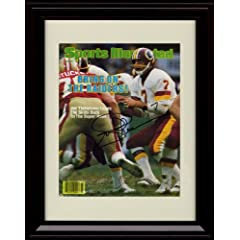 Framed Joe Theismann Sports Illustrated Autograph Print - Washington Redskins - by Framed Sport Prints