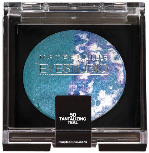 Maybelline New York Eye Studio Color Pearls Marbleized Eyeshadow, Tantalizing Teal 50, 0.09 Ounce front-416863