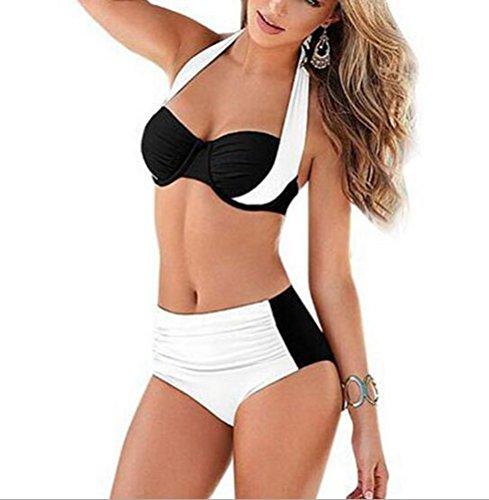 sunifsnow-bikini-maillot-deux-pieces-a-fleurs-sans-manche-fille-blanc-blanc