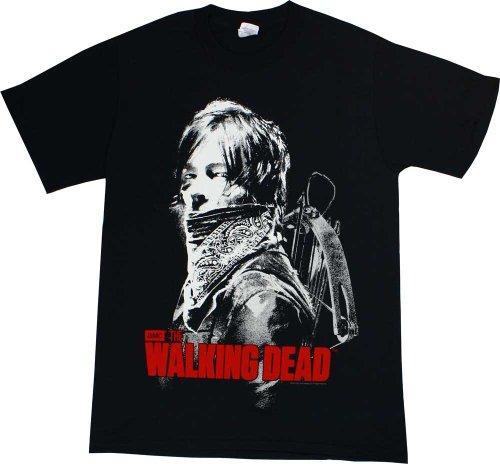 The Walking Dead Daryl Dixon Bandana Logo Adult T-shirt L