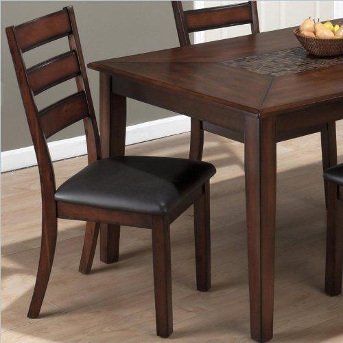 Jofran 697 Series Slat Back Side Chair in Baroque Brown (set of 2)