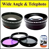 Big Mike'S Deluxe Lens Kit For Panasonic Hc-V700K Hc-V700Mk Hc-V720K Hdc-Sd800K Hdc-Sdt750 Camcorder + Includes 46Mm 3Pc Filter Kit + 46Mm 2X Telephoto Lens + 46Mm 0.45X Wide Angle Lens With Macro + Microfiber Cleaning Cloth + Lcd Screen Protectors