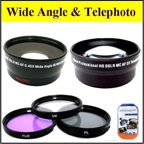 Big Mike'S Deluxe Kit objectif pour Canon Xh A1 et Xh G1 A1S Xh G1S caméscope professionnel Hauteur :  72 mm-Lot de 3 filtres 72 mm pour objectif 72 mm grand Angle 0,45 x avec objectif Macro chiffon de nettoyage et protection d'écran Lcd