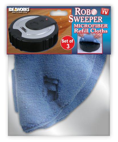 ROBO SWEEPER MICROFIBER CLOTH REFILLS (SET OF 3) - AS SEEN ON TV! (As Seen On Tv Sweeper compare prices)