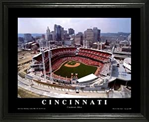 Buy Cincinnati Reds - Great American Ballpark - Lg - Framed Poster Print by Laminated Visuals