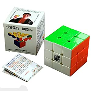 Yj Yulong 3x3x3 Speed Cube Puzzle 6- color Stickerless (Yulong)