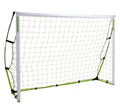6.5' x 4' Kickster Portable Soccer Goal - 2 Min Set up - Back Yard, Park, Vacation or Training - Play Anywhere - Recommended by USA's BRAD FRIEDEL!