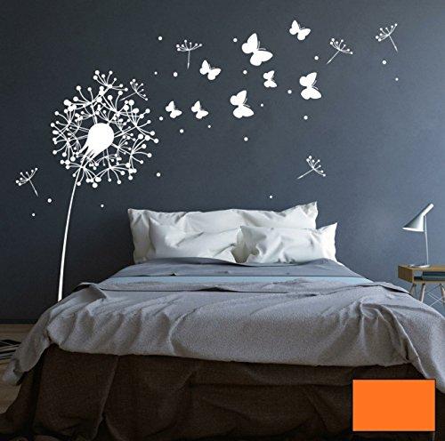 Autocollant-mural-Motif-fleur-de-pissenlit-avec-papillons-mignons-M1348-Couleurslectionne