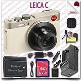 Leica C CMOS WiFi NFC Digital Camera (Gold 18485) + 16GB SDHC Class 10 Card + HDMI Cable + Soft Camera Case + 12pc Leica Saver Bundle