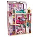 Elegant Manor Dollhouse with Furniture