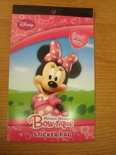 Minnie Mouse Bow-tique Sticker Pad Over 200 Stickers - 1