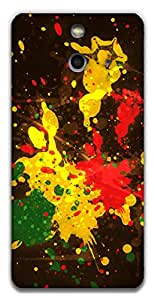 The Racoon Lean printed designer hard back mobile phone case cover for HTC One (E8). (Rasta Spla)