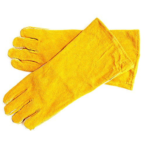 Yellow-Large-Cowhide-Suede-KevlarLeather-Welding-Glove-Wing-Thumb-Fully-Welted-Kevlar-Stitching-Reinforced-Thumb