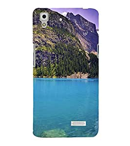 printtech Nature View Mountains Forest Back Case Cover for Oppo R7 Lite