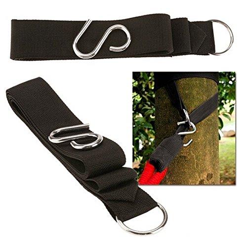 L'alta qualità esterna Ecologico Amaca Albero cinghie (pacchetto di 2) - Kit Hanging Include Grande Acciaio (2 S-ganci e 2 O-ring) - Amaca Albero cinghie con moschettone Ganci