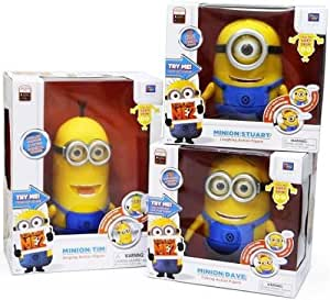 "Despicable Me 2 Minion 9"" Collector Talking figure doll Thinkway DAVE TIM STUART"