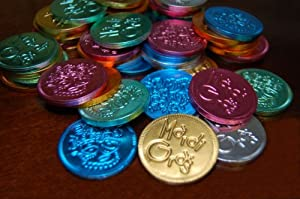Mardi Gras Milk Chocolate Coins - Chocolate Doubloons - 500pcs