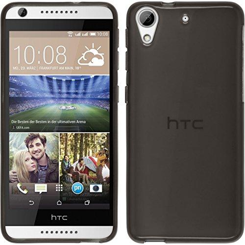 PhoneNatic HTC Desire 626 Hülle Silikon schwarz transparent Case Desire 626 Tasche + 2 Schutzfolien