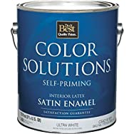 Color Solutions Self-Priming Latex Satin Interior Wall Paint-INT SAT ULTRA WHT P