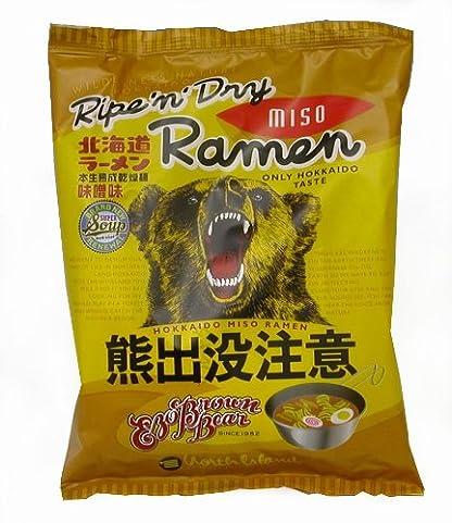 藤原製麺 北海道熊出没注意ラーメン 味噌味 124g×10袋