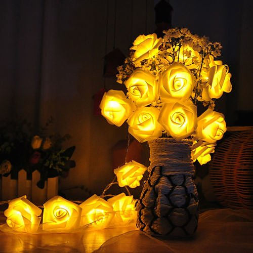 20LED Rose Flower Fairy Wedding Garden Party Xmas Decor Christmas String Lights WarmWhith no.35