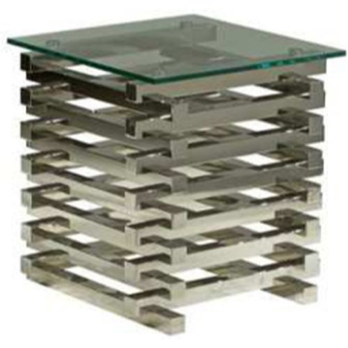 Nuevoliving Stacked Side Table - Silver (Ss) at Sears.com
