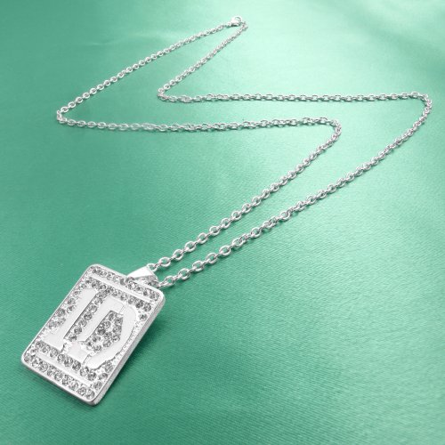 One Direction '1D' Crystal Dog Tag Necklace
