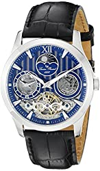 Lucien Piccard Men's 40017A-03 San Marco Analog Display Automatic Self Wind Black Watch