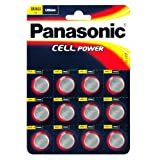 Panasonic Specialist Lithium Coin Batteries CR2032 x 12by Panasonic