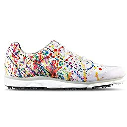 FootJoy EmPower Golf Shoes 2016 Ladies Paint Splatter Wide 7.5
